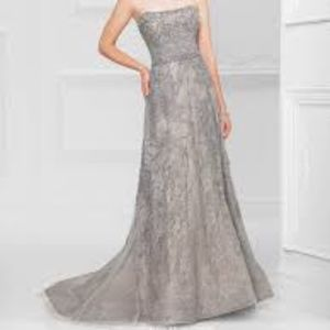 Mon Cheri by Ivonne D Grey Lace Gown UnAltered